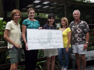 Enterprise Holdings presents PRWC with a check for $3,500.00