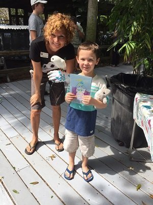 Miles hand crafted a birthday card for Luna