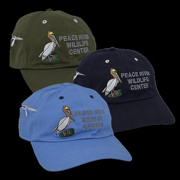 Zipper Pocket Baseball Cap Embroidered Pelican