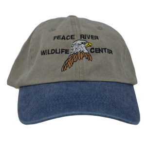 Embroidered Eagle Baseball Cap Khaki with Blue Visor