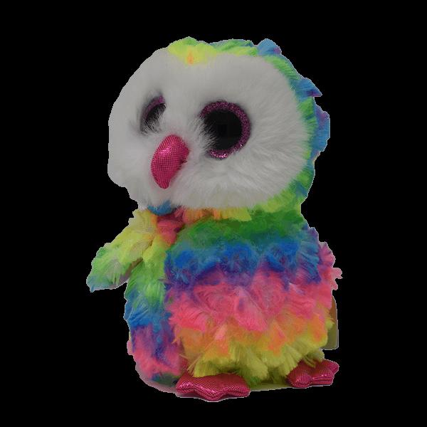 Beanie Owls Owen Rainbow