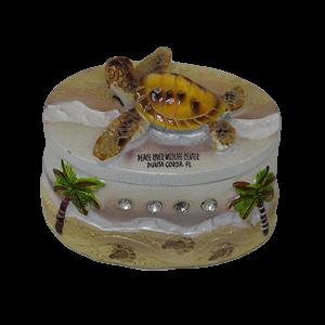 Sparkly Sea Turtle Treasure Box