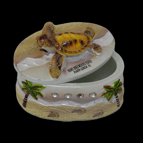 Sparkly Sea Turtle Treasure Box Closed